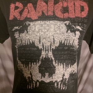 Mens Vintage Rancid distressed Punk rock t-shirt